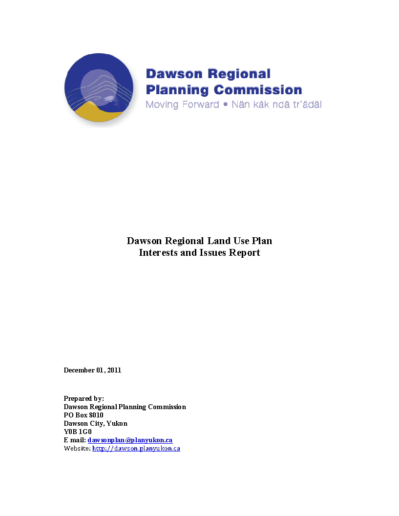Dawson Issues and Interests Report